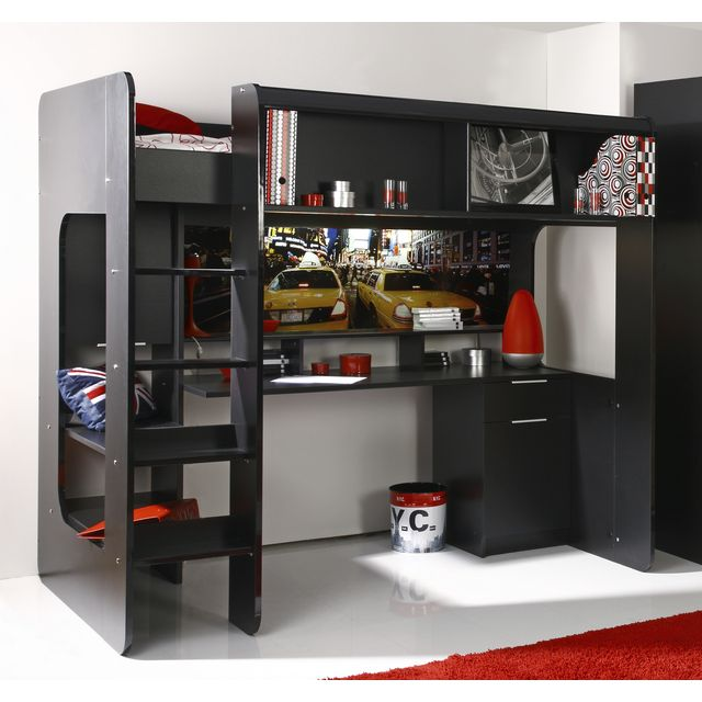 mod le lit mezzanine une personne pas cher. Black Bedroom Furniture Sets. Home Design Ideas