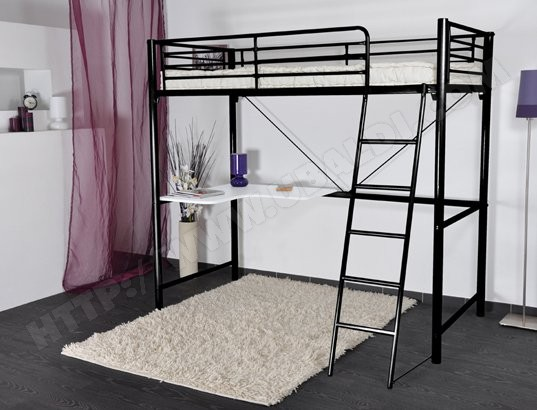lit mezzanine une personne pas cher. Black Bedroom Furniture Sets. Home Design Ideas