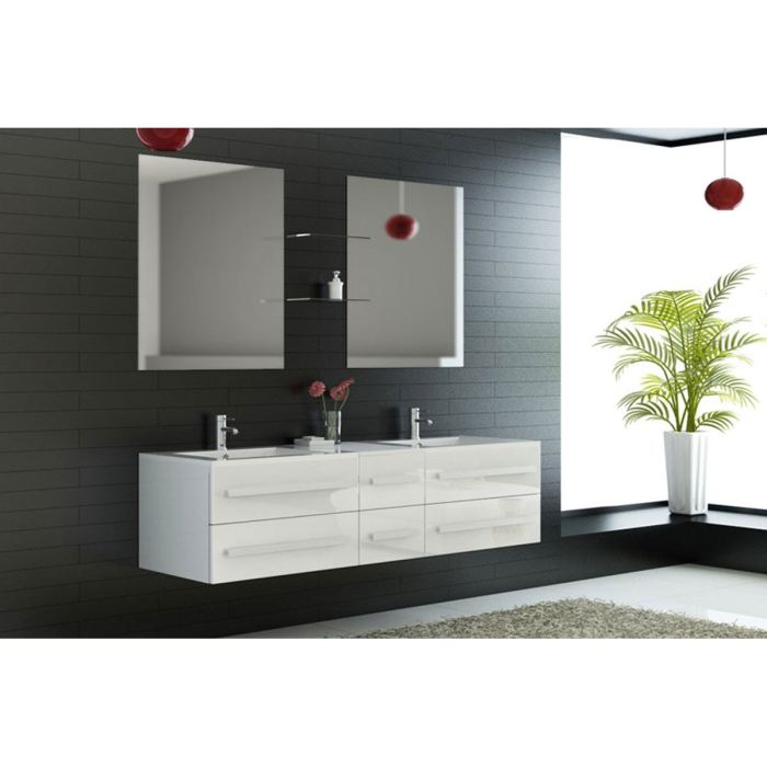 meuble 2 vasque salle de bain pas cher. Black Bedroom Furniture Sets. Home Design Ideas