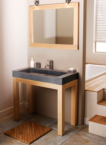 Photo meuble bas salle de bain leroy merlin