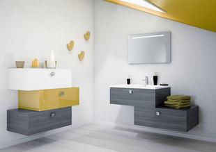 Meuble bas salle de bain suspendu - Meuble de rangement suspendu ...