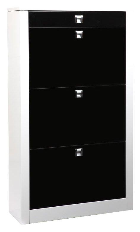 meuble chaussure noir laque pas cher. Black Bedroom Furniture Sets. Home Design Ideas