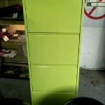 meuble chaussures vert