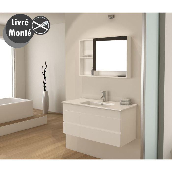 meuble haut salle de bain 90 cm. Black Bedroom Furniture Sets. Home Design Ideas