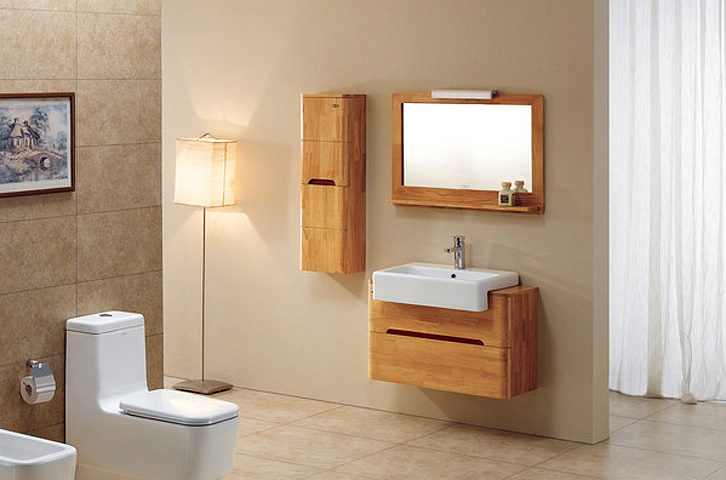 Meuble haut salle de bain 90 cm for Meuble en bois salle de bain pas cher