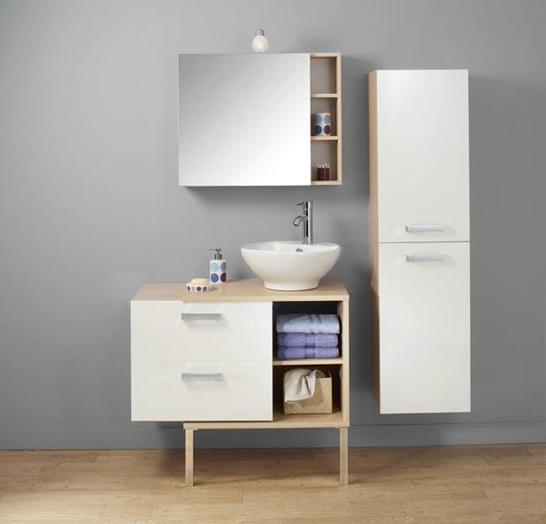 Meuble haut salle de bain faible profondeur for Petit meuble salle bain