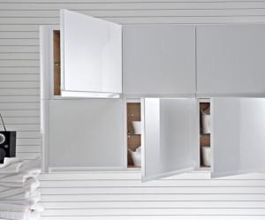 meuble haut salle de bain faible profondeur