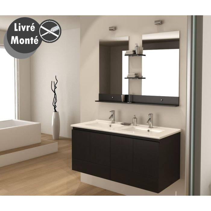 meuble salle de bain 120 x 50. Black Bedroom Furniture Sets. Home Design Ideas