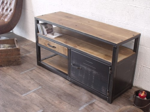 meuble salle de bain industriel. Black Bedroom Furniture Sets. Home Design Ideas