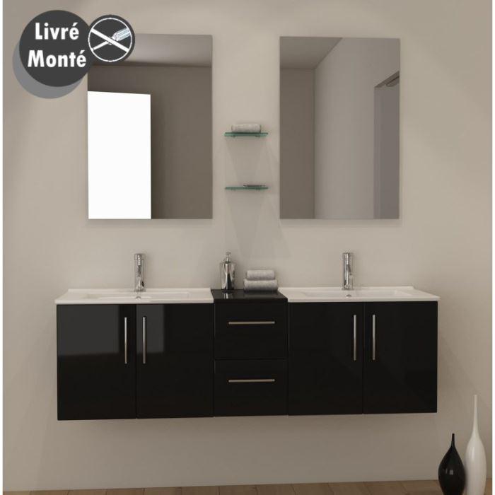 meuble salle de bain double vasque 150