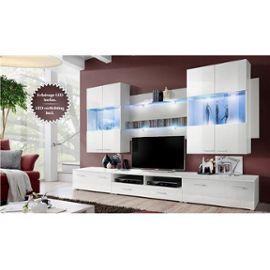 comparatif meuble tv bas long blanc