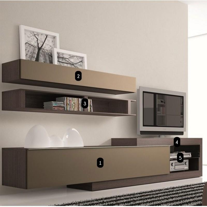 meuble tv bas taupe. Black Bedroom Furniture Sets. Home Design Ideas
