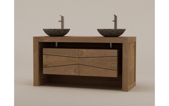 Meuble salle de bain pour vasque clermont ferrand design - Meuble salle de bain romantique ...