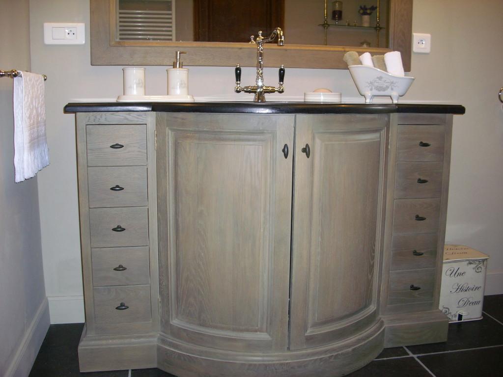 trouver meuble vasque retro