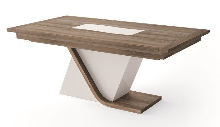Table a manger pied central - Table rectangulaire pied central ...