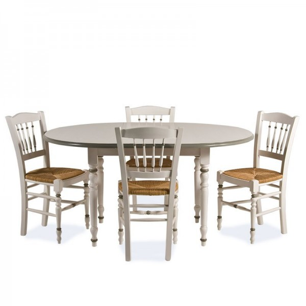 Ensemble table ronde et chaise salle a manger for Table a manger ronde rallonge