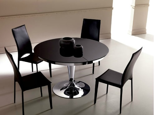 Table a manger ronde extensible for Table de salle a manger retractable