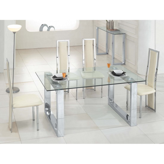 Table a manger transparente for Table salle manger transparente
