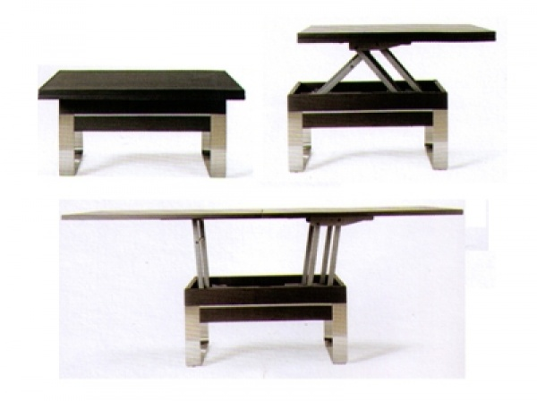 Table basse manger transformable - Table de salon convertible ...