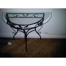 table console fer forge. Black Bedroom Furniture Sets. Home Design Ideas