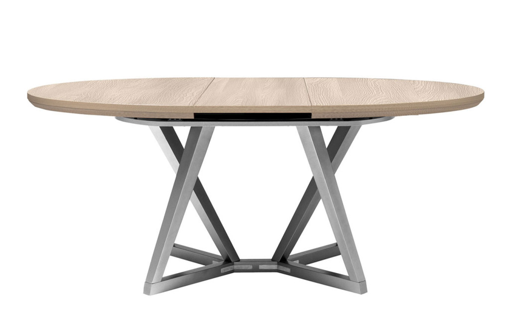 Table console ovale - Table ovale avec rallonges ...