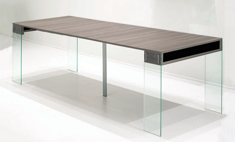 Table console verre extensible - Table en verre extensible ...