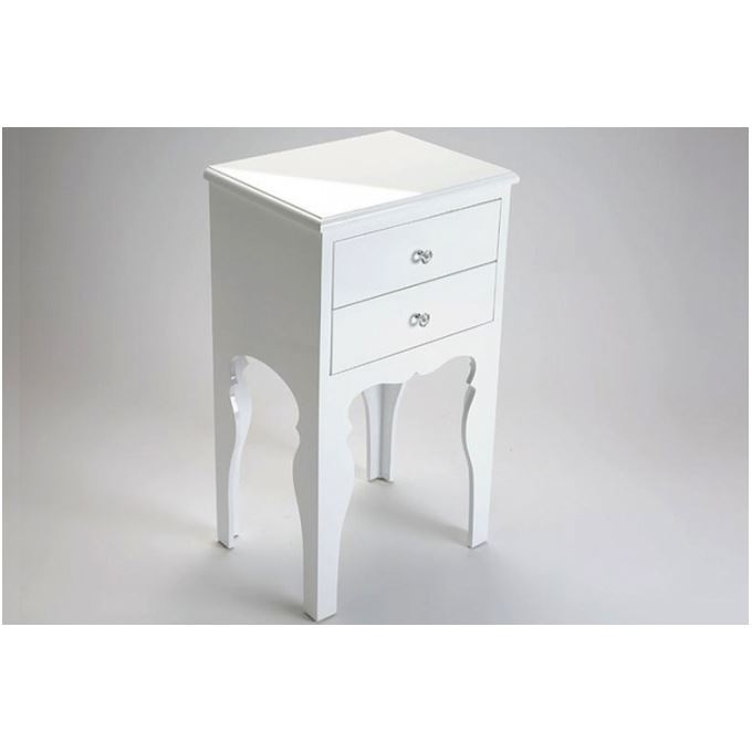 Table De Chevet Laque Blanc