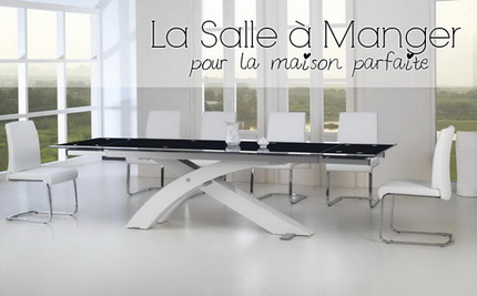 table de salle a manger design. Black Bedroom Furniture Sets. Home Design Ideas