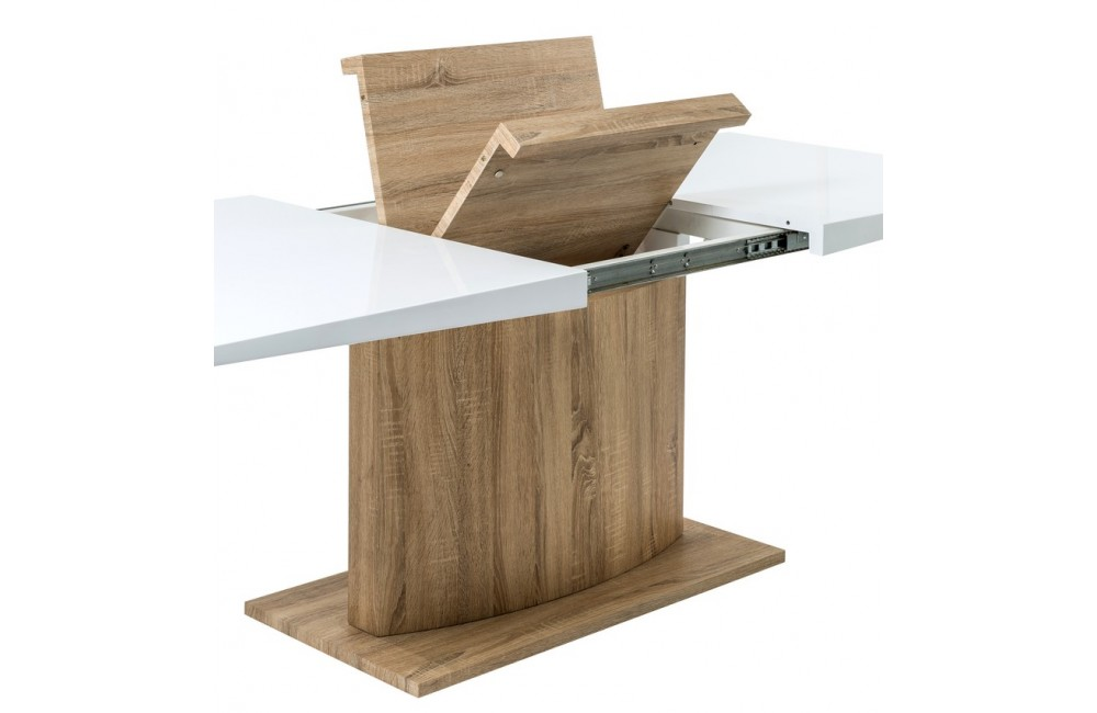 Table de salle a manger modulable maison design Table salle a manger rectangulaire extensible