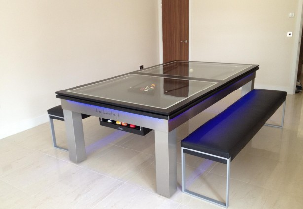 table de salle a manger qui fait billard. Black Bedroom Furniture Sets. Home Design Ideas