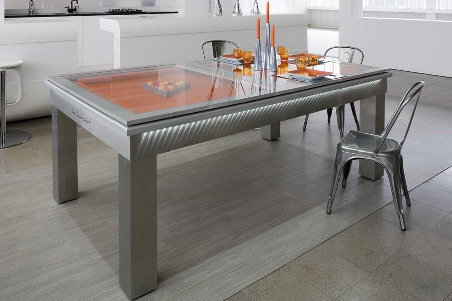 Table de salle a manger qui fait billard - Table basse qui fait table a manger ...