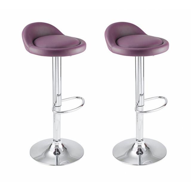 tabouret de bar violet cdiscount. Black Bedroom Furniture Sets. Home Design Ideas