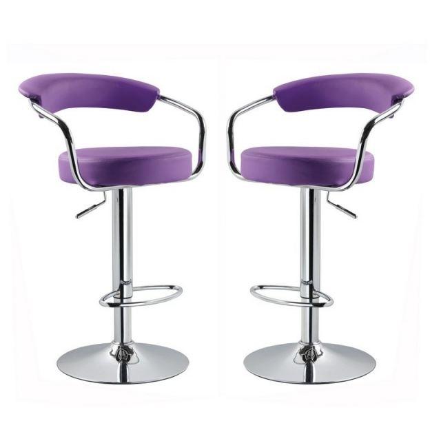 tabouret de bar violet cdiscount