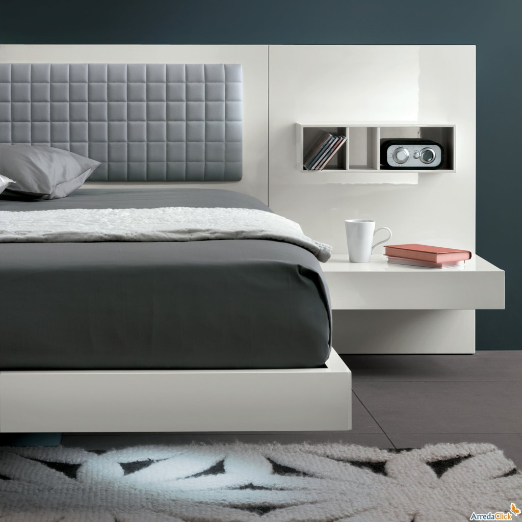 lit avec chevet integre maison design. Black Bedroom Furniture Sets. Home Design Ideas