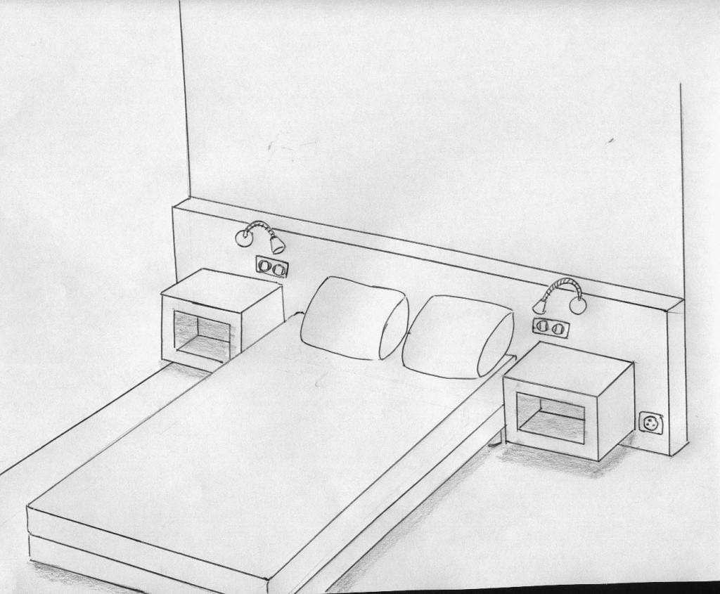 Comment Dessiner Une Piece En Perspective : Tete de lit leroy merlin