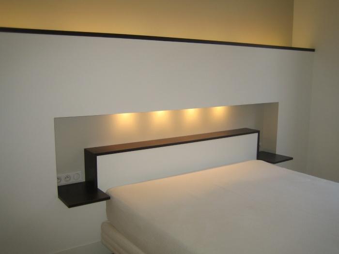 tete de lit placo. Black Bedroom Furniture Sets. Home Design Ideas
