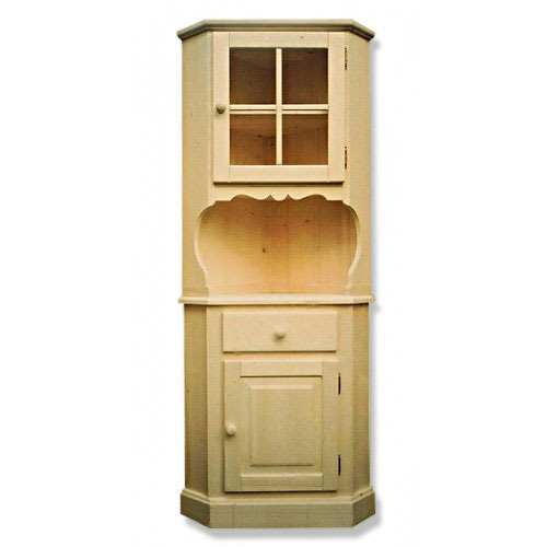 vaisselier d 39 angle en pin. Black Bedroom Furniture Sets. Home Design Ideas