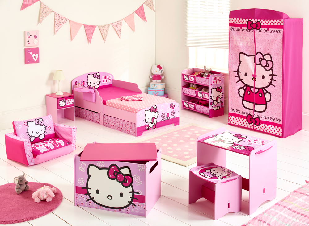 Meuble chambre hello kitty for Chambre hello kitty