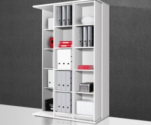 armoire de bureau blanche