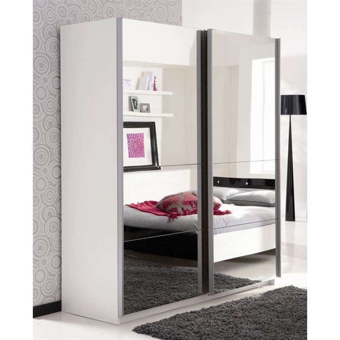 armoire de chambre avec miroir. Black Bedroom Furniture Sets. Home Design Ideas