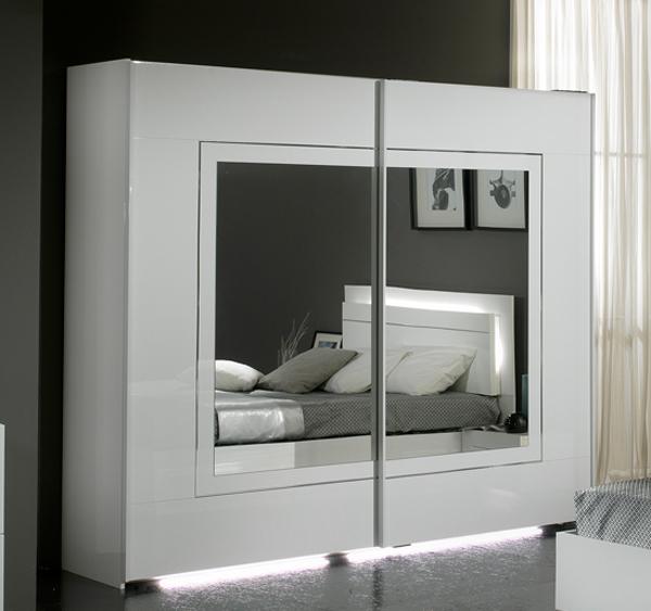 Armoire de chambre blanc - Modele d armoire de chambre a coucher ...