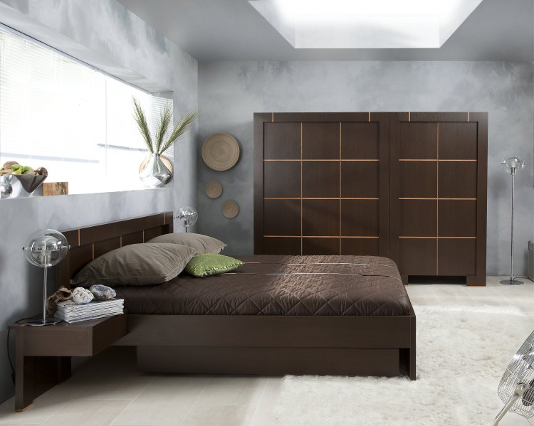 armoire de chambre contemporaine. Black Bedroom Furniture Sets. Home Design Ideas