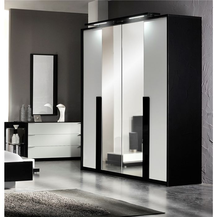 armoire de chambre miroir. Black Bedroom Furniture Sets. Home Design Ideas