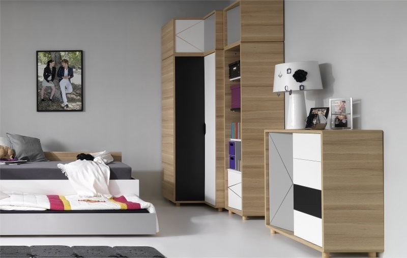 armoire de chambre pour ado. Black Bedroom Furniture Sets. Home Design Ideas