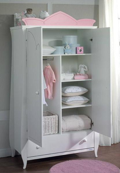 Armoire pour chambre de fille - Como forrar muebles con tela ...