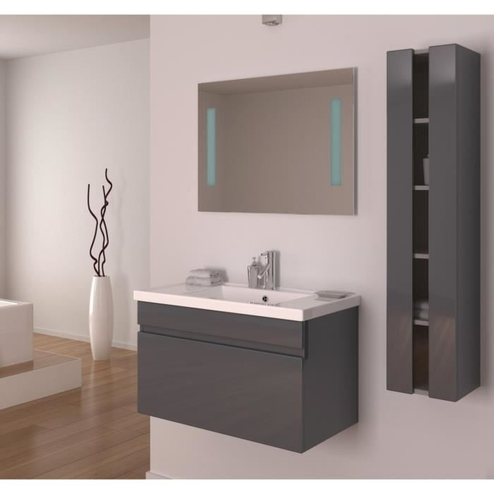 armoire salle de bain gris laque. Black Bedroom Furniture Sets. Home Design Ideas