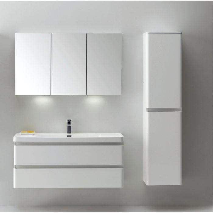 Meuble de salle de bain suspendu blanc noel 2017 for Placard suspendu salle de bain