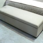 banc de lit taupe