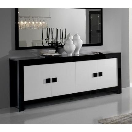 buffet bas noir pas cher. Black Bedroom Furniture Sets. Home Design Ideas