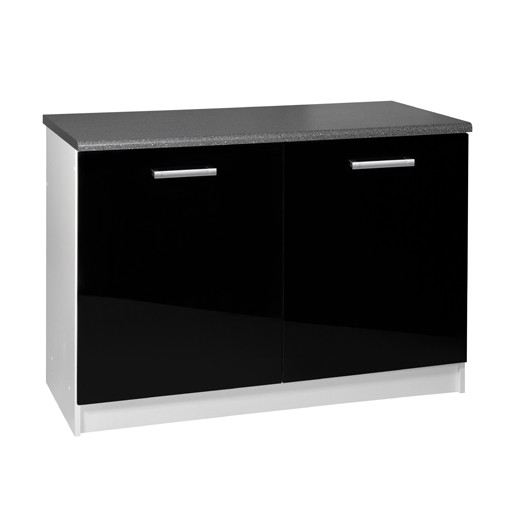 meuble de cuisine noir pas cher. Black Bedroom Furniture Sets. Home Design Ideas